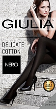 "Духи, Парфюмерия, косметика Колготки ""Delicate Cotton"" 150 Den, Nero - Giulia"