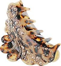 """Духи, Парфюмерия, косметика Крабик для волос """"Леопард"""", 1007, персиковые стразы - Элита"""