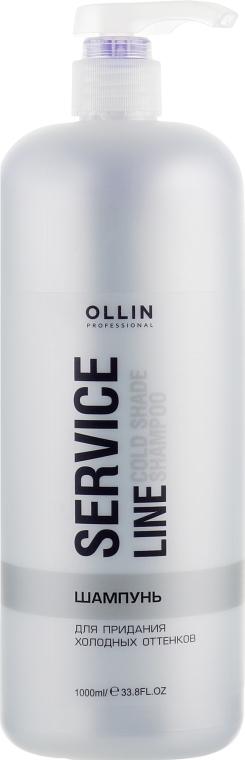 Шампунь для придания холодных оттенков и седых волос - Ollin Professional Service Line Cold Shade Shampoo