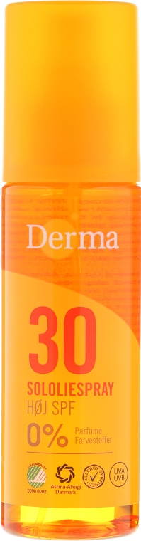 Солнцезащитное масло для тела - Derma Sun Sun Oil SPF30 High