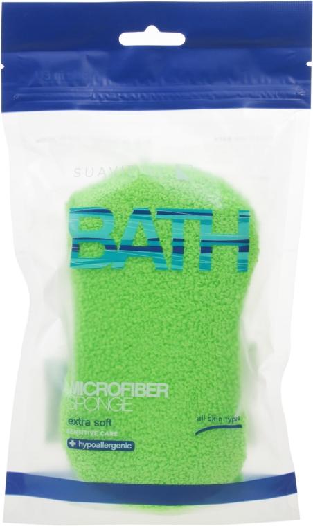 Мочалка банная, салатовая - Suavipiel Microfiber Bath Sponge Extra Soft