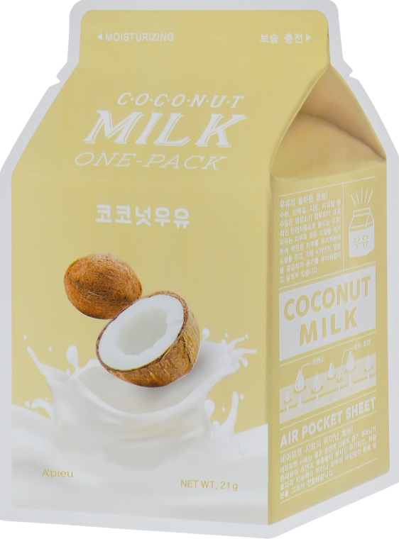 "Тканевая маска ""Кокос"" - A'pieu Coconut Milk One-Pack"