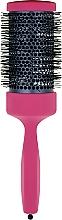 Парфумерія, косметика Брашинг з дерев'яною ручкою, покритою каучуковим лаком, d 55 mm, пурпурний - 3ME Maestri