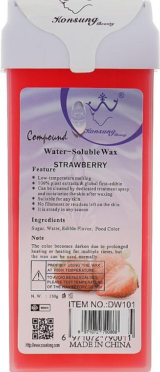"""Сахарная паста для депиляции в картридже """"Клубника"""" - Konsung Beauty Strawberry Water Soluble Wax"""