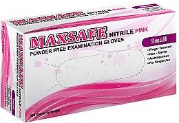 Духи, Парфюмерия, косметика Перчатки нитриловые, неопудренные, розовые, размер S - Maxsafe