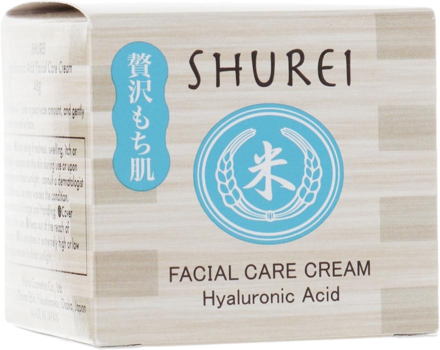Увлажняющий крем для лица с гиалуроновой кислотой - Shurei Facial Care Cream Hyaluronic