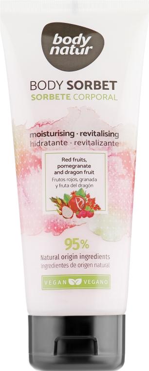 Крем-сорбет для тела с лесными ягодами, гранатом и драконьим фруктом - Body Natur Red Fruits, Pomegranate and Dragon Fruit Body Sorbet