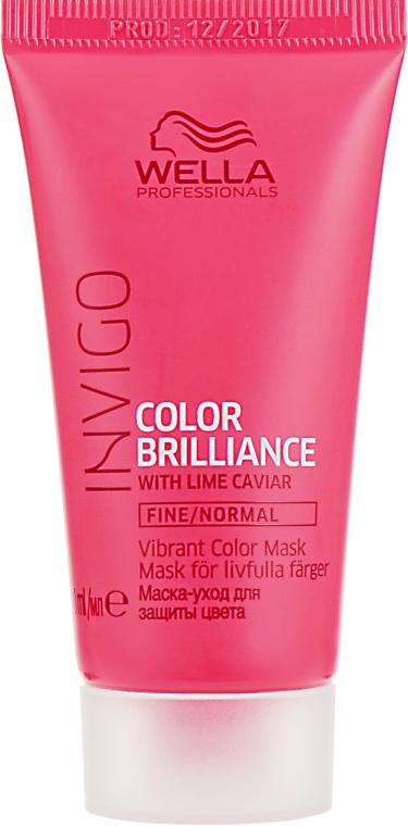 Маска для окрашенных, нормальных и тонких волос с икрой лайма - Wella Professionals Invigo Color Brilliance Vibrant Color Mask