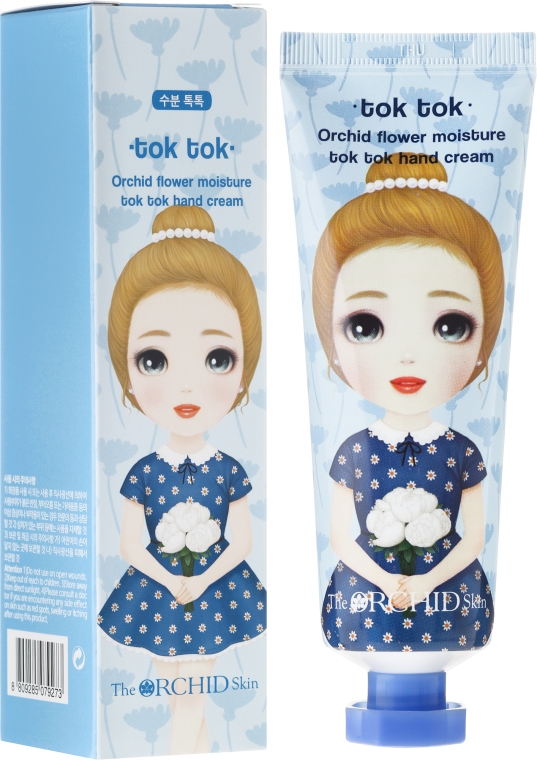 Крем для рук увлажняющий - The Orchid Skin Orchid Flower Moisture Tok Tok Hand Cream