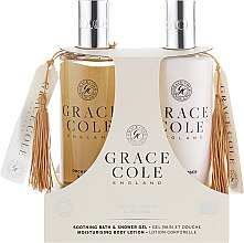 Набор - Grace Cole Orchid, Amber & Incense (sh/gel/300ml + b/lot/300ml) — фото N1