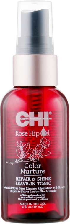 Несмываемый спрей с маслом шиповника и кератином - CHI Rose Hip Oil Repair & Shine Leave-In Tonic