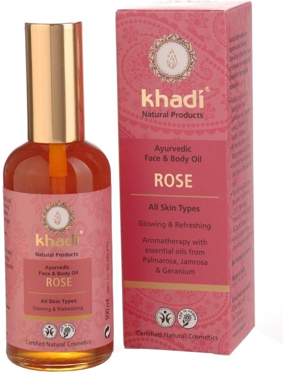 """Масло для лица и тела """"Роза"""" - Khadi"""