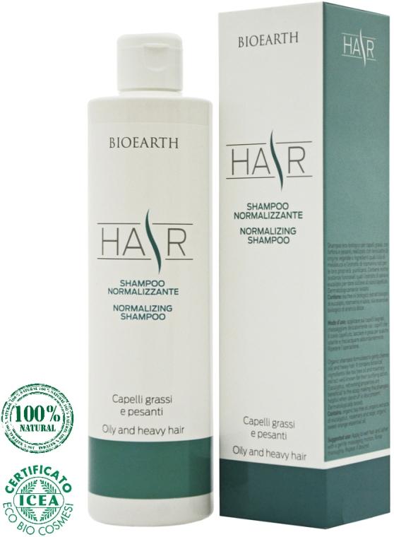 Шампунь для жирных волос - Bioearth Bioearth Normalizing Shampoo for Oily & Heavy Hair