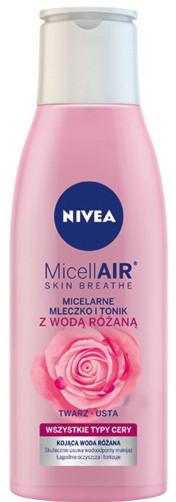 Мицеллярное молочко-тоник + розовая вода - Nivea MicellAir Skin Breathe