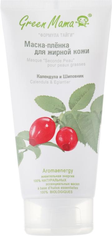 Маска-плівка для жирної шкіри - Green Mama Формула Тайги — фото N1