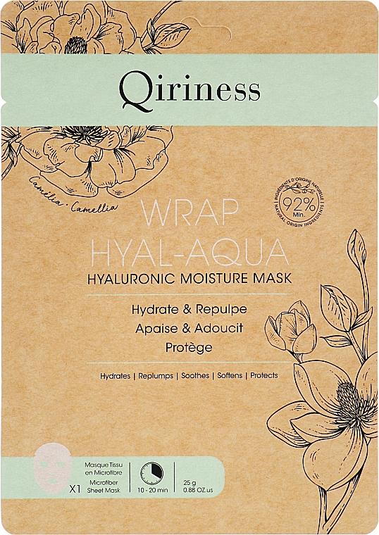 Гиалуроновая увлажняющая и омолаживающая маска - Qiriness Wrap Hyal-Aqua Hyaluronic Moisture Mask