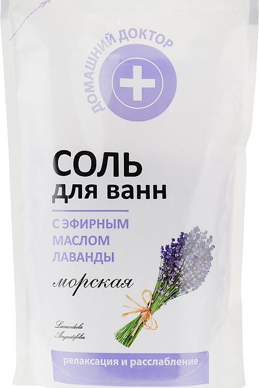 Соль для ванн с экстрактом лаванды - Домашний Доктор (дой-пак)