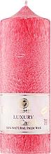 Духи, Парфюмерия, косметика Свеча из пальмового воска колонна, красная 19,5 см - Saules Fabrika Luxury Eco Candle