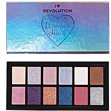 Духи, Парфюмерия, косметика Палетка теней для век - I Heart Revolution Unicorns Heart Eyeshadow Palette