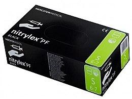 Духи, Парфюмерия, косметика Перчатки нитриловые, смотровые, черные, размер S - Mercator Medical Nitrylex Black