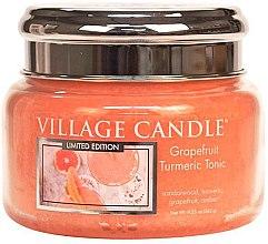 Ароматическая свеча в банке - Village Candle Grapefruit Turmeric Tonic Glass Jar — фото N1