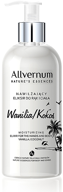 """Эликсир для рук и тела """"Ваниль и кокос"""" - Allvernum Nature's Essences Elixir for Hands and Body"""