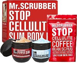 Духи, Парфюмерия, косметика Набор - Mr.Scrubber Stop Cellulite Hot & Cold + Scrub (cr/2x250g + scrub/200g)