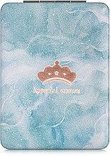 """Духи, Парфюмерия, косметика Зеркало косметическое прямоугольное, """"Imperial Crown"""", голубое - Lily Cosmetics"""
