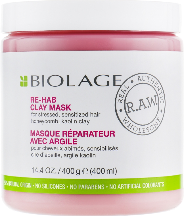 Маска для волос - Biolage RAW Re-Hab Clay Mask
