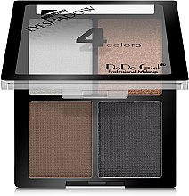 Духи, Парфюмерия, косметика Палетка теней для век - DoDo Girl 4 Colors Eyeshadow
