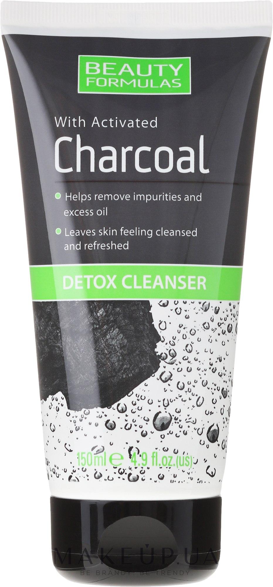 Средство для очистки кожи лица с углем - Beauty Formulas Charcoal Detox Cleanser — фото 150ml