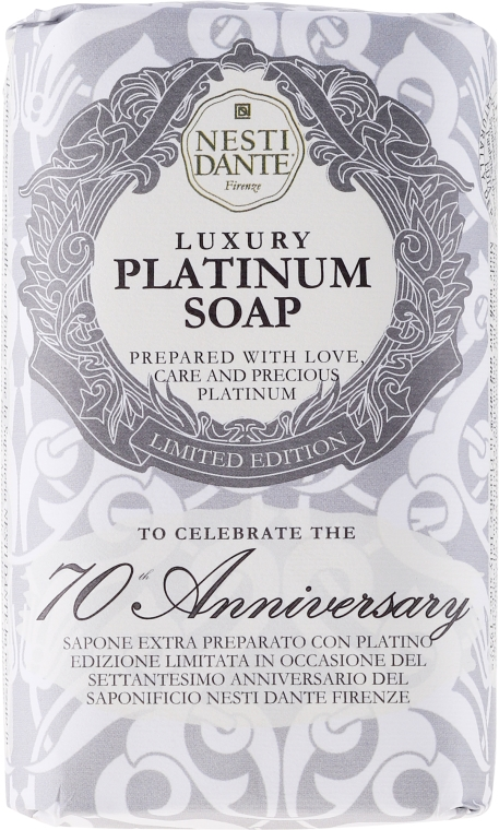 "Мыло ""Платиновое"" - Nesti Dante Luxury Platinum Soap 70th Anniversary"