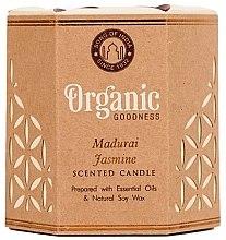 Духи, Парфюмерия, косметика Ароматизированная свеча банке - Song of India Organic Goodness Madurai Jasmine Soy Wax Candle