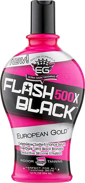 Крем-бронзант для загара в солярии, с формулой для сохранения цвета - European Gold Flash Black 500X