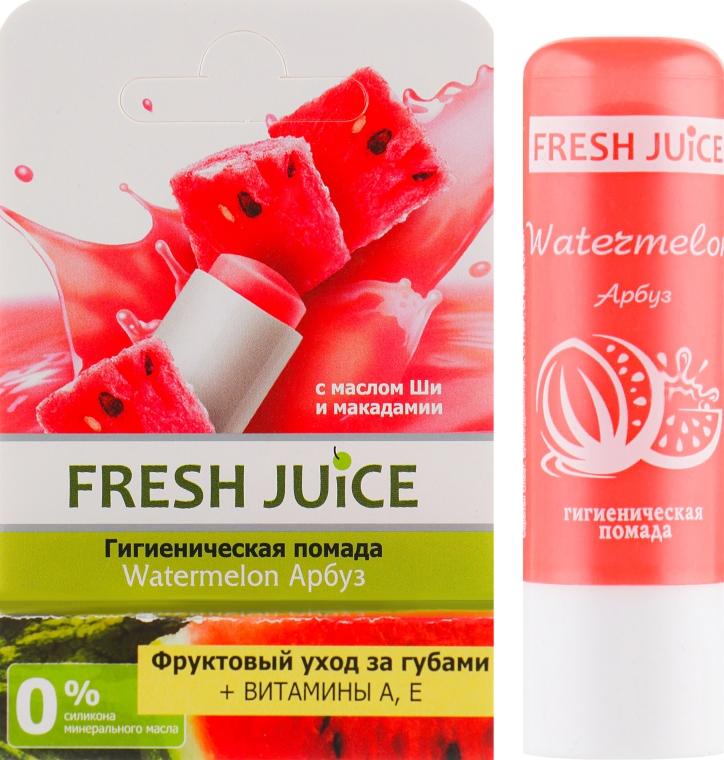 """Гигиеническая помада в упаковке """"Арбуз"""" - Fresh Juice Watermelon"""