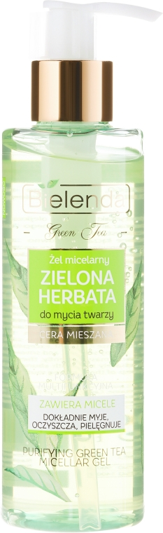 Мицеллярный гель для лица - Bielenda Green Tea Micellar Gel For Face Cleansing