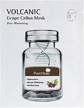 Духи, Парфюмерия, косметика Тканевая маска с вулканическим пеплом для жирной кожи - PureHeal's Volcanic Grape Callus Mask