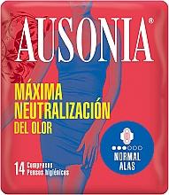 Духи, Парфюмерия, косметика Прокладки с крылышками, 14 шт - Ausonia Normal With Wings Sanitary Towels