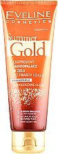 Парфумерія, косметика Гель-автозасмага для обличчя й тіла, світлий - Eveline Cosmetics Summer Gold 3in1 Gel Light