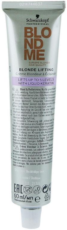 Осветляющий крем для светлых волос - Schwarzkopf Professional BlondMe Blonde Lifting — фото N3