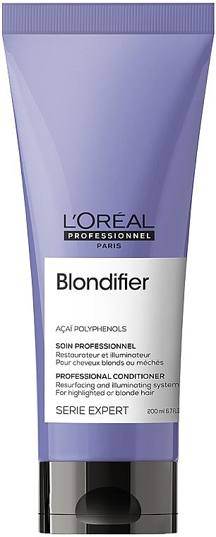 Кондиционер-сияние для волос, восстанавливающий - L'Oreal Professionnel Serie Expert Blondifier Illuminating Conditioner