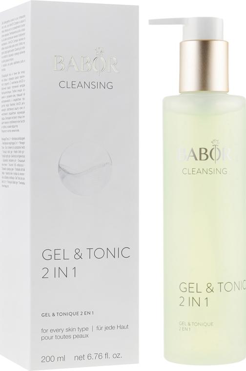 Гель-тоник для лица - Babor Cleansing Gel & Tonic 2 in 1