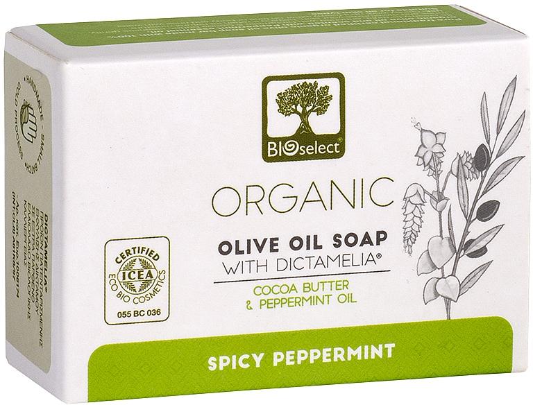 Натуральное оливковое мыло с маслом какао и мятой - BIOselect Pure Olive Oil Soap Cocoa Butter & Mint