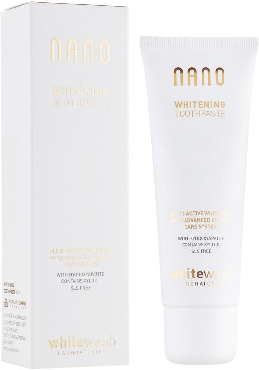 """Зубная паста """"Отбеливание+реминерализация с гидроксиапатитом"""" - WhiteWash Laboratories Nano Whitening Toothpaste"""