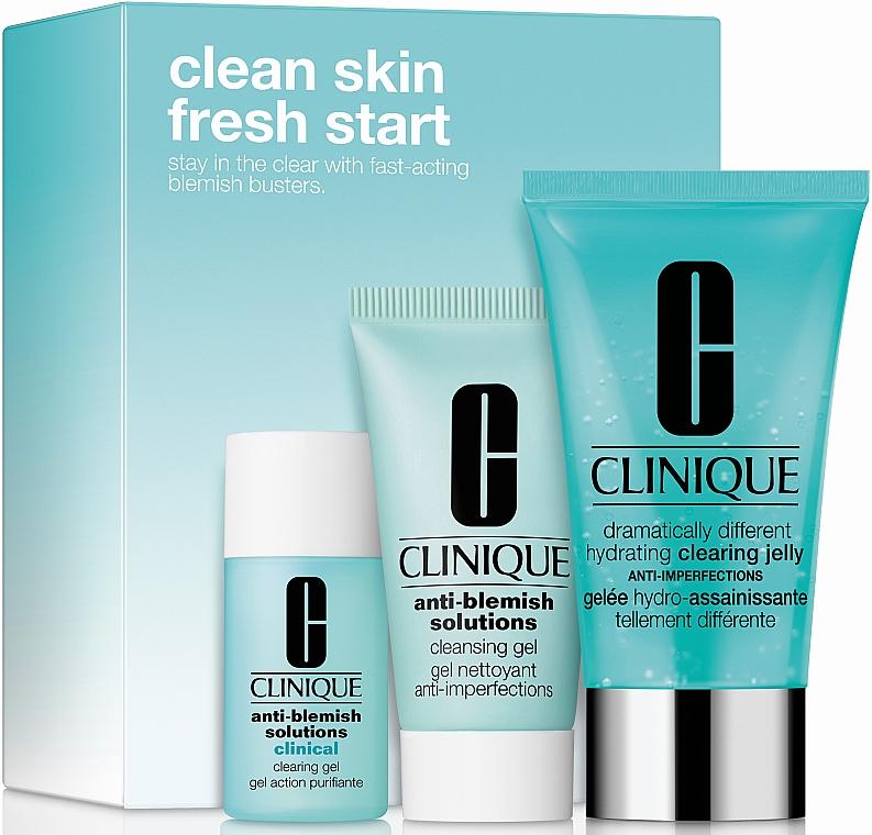 Набор - Clinique Clean Skin, Fresh Start (gel/30ml + cr/gel/15ml + jelly/50ml)