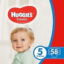 """Духи, Парфюмерия, косметика Подгузники """"Classic"""" 5 Mega Pack (11-25 кг, 58 шт) - Huggies"""