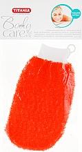 Духи, Парфюмерия, косметика Массажная рукавичка отшелушивающая, оранжевая - Titania