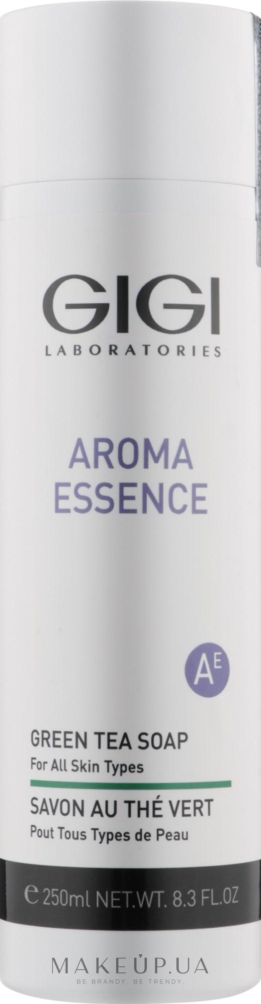 Мило з зеленим чаєм для всіх типів шкіри - Gigi Aroma Essence Green Tea Soap — фото 250ml