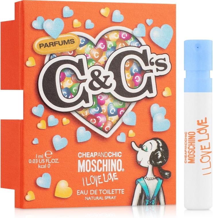 Moschino I Love Love - Туалетная вода (пробник)