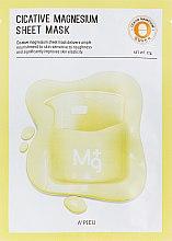 Духи, Парфюмерия, косметика Лечебная маска с магнием - A'pieu Cicative Magnesium Sheet Mask